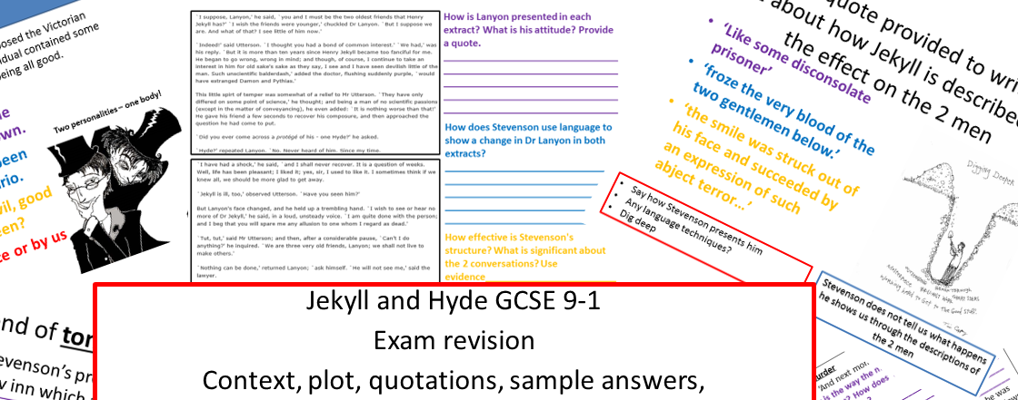 Jekyll and Hyde new specification 9-1 exam revision bundle