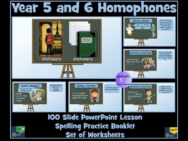 year 5 and 6 homophones near homophones powerpoint lesson worksheets and spelling booklet. Black Bedroom Furniture Sets. Home Design Ideas