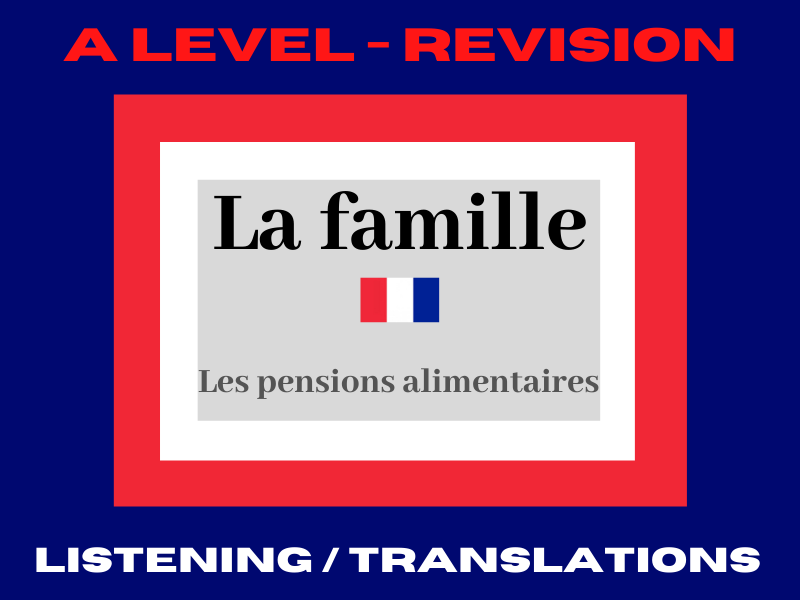 French A level pensions alimentaires