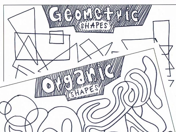 Geometric + Organic Shapes | Colouring Activity