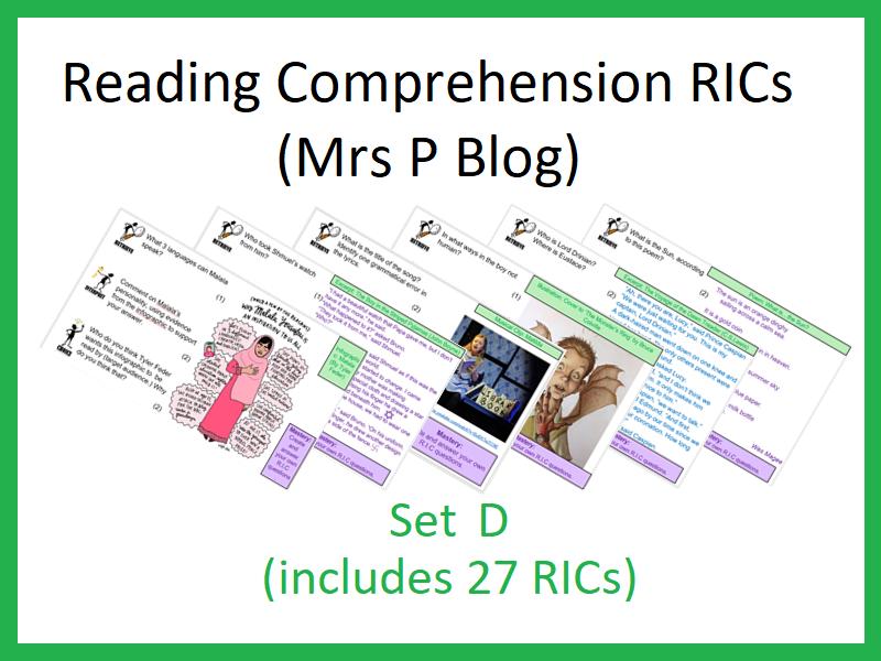 RICS Set D (Reading Comprehension)
