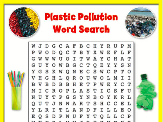 Let's Investigate Plastic Pollution: Word Search