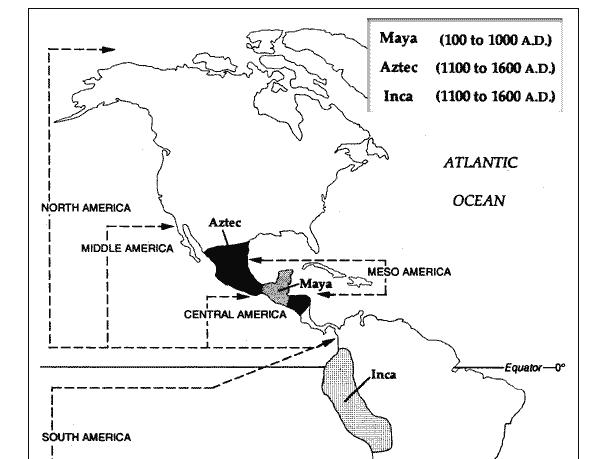 Inca, Maya, Aztec and the conquistadores
