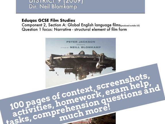 District 9 GCSE Film Studies study guide / ebook / revision guide / scheme of work