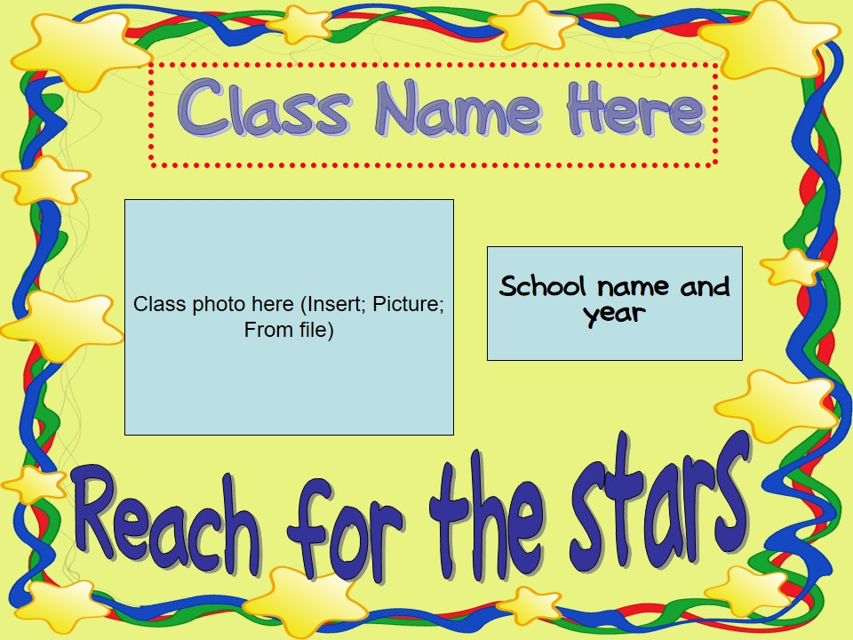 Back to School/Meet The Teacher/Open House Slideshow - Star Theme