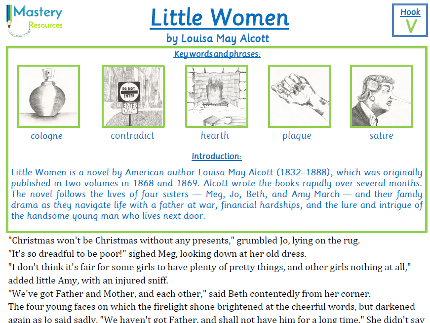 Little Women by Louisa May Alcott Comprehension Year 5 & 6