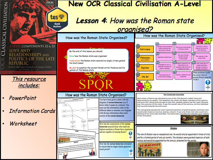 How was the Roman State Organised? - Lesson 4 (Politics of the Late Republic - NEW OCR A-Level)