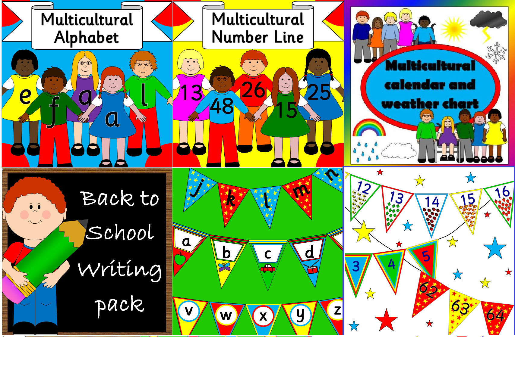 New Term bumper pack- Multicultural, classroom set