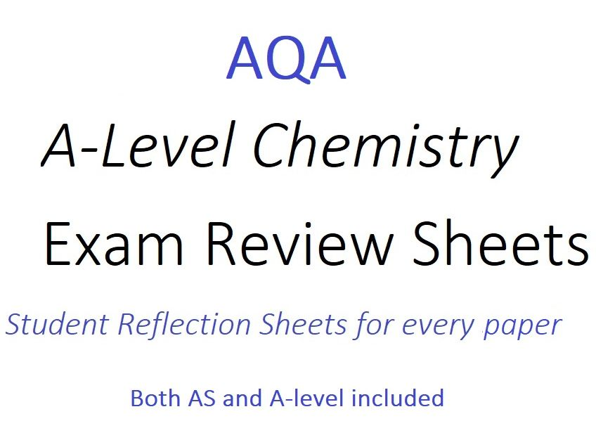 AQA A-Level Chemistry Exam Review Sheets