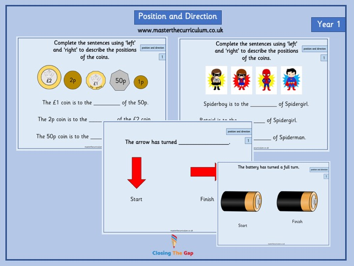 Year 1 Position and Direction White Rose Teaching slides
