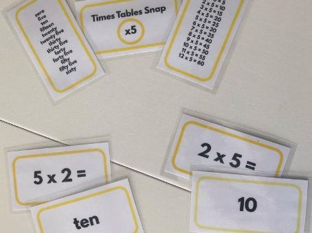 Times Tables Snap 6s, 7s, 9s