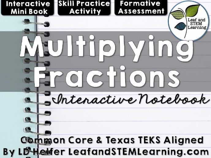Multiplying Fractions Interactive Notebook Set