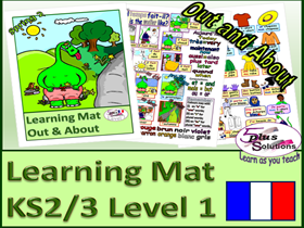 PRIMARY FRENCH VOCABULARY LEARNING MAT (KS2/3): Weather, seasons, Clothes, Colours & more!