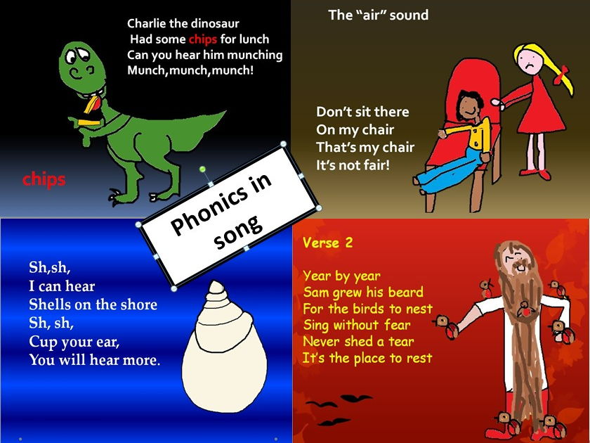 Phonics in music and song  . Video. PPT.MP3s. 2 worksheets.