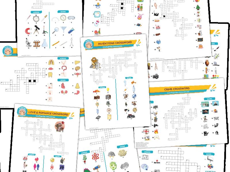 10 x ESL Crosswords Bundle (Pack 4)