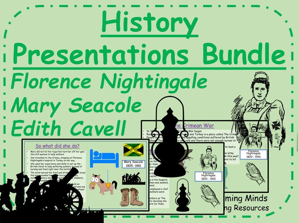 Pioneering Nurses History Presentations Bundle
