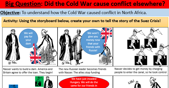 4. Cold War - Suez Canal KS3-KS4