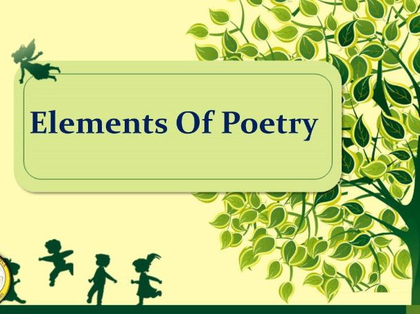 Elements of poetry Display/Poster/Penaflax