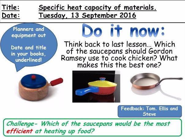 Specific Heat Capacity of Materials