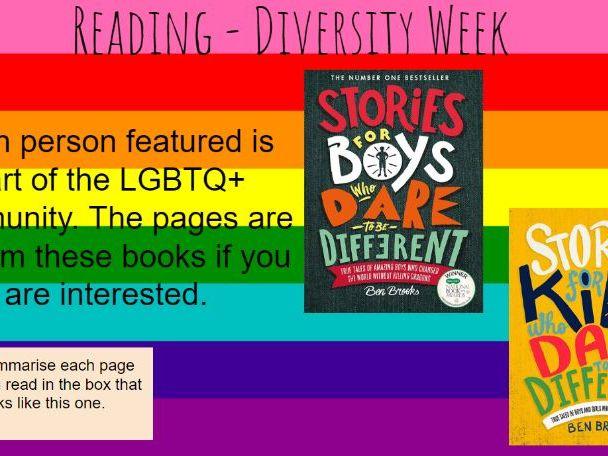 Diversity Week - reading activity