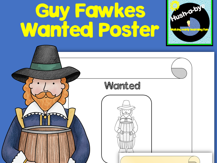 Guy Fawkes Wanted Poster Writing Frame