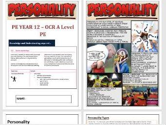 OCR A Level PE - Sports Psychology ILT1 - Personality