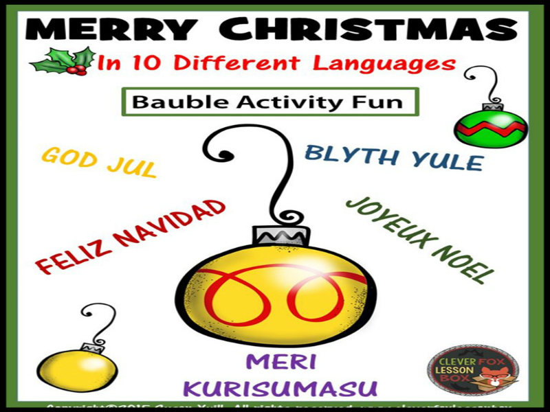 Merry Christmas In 10 Languages