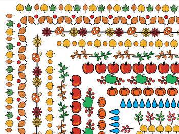 45 Fall Doodle Borders