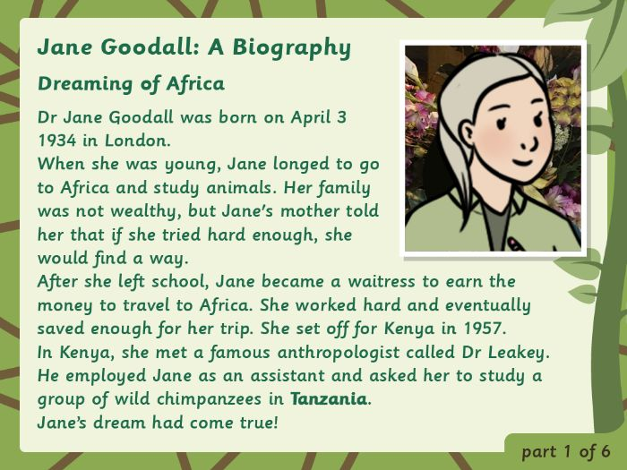 KS2 Biography: Jane Goodall