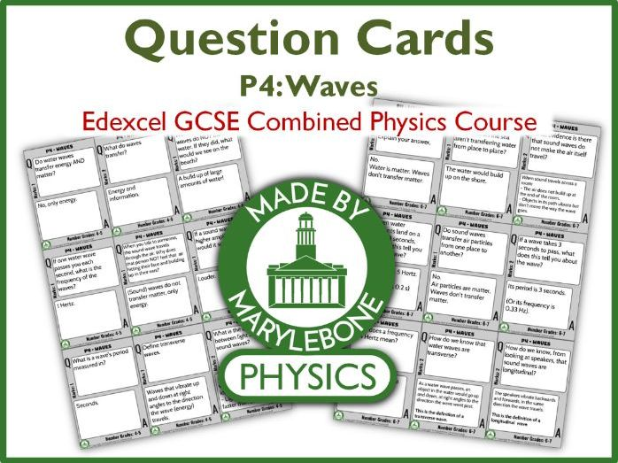 Revision Question Cards - Edexcel GCSE 9-1 Combined Physics - P4 Waves