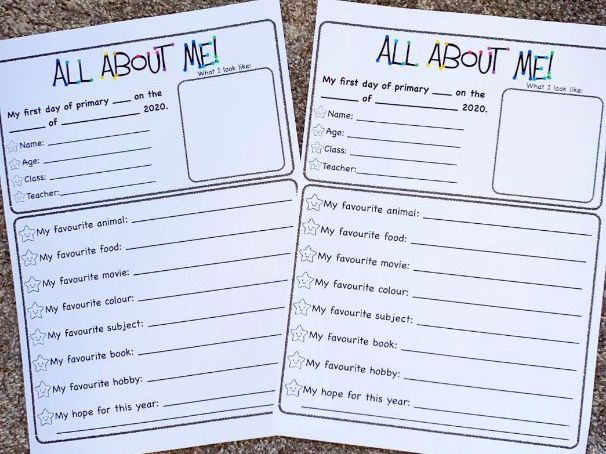 'All About Me' Fact File