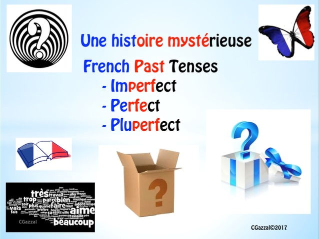French GCSE – Une histoire mystérieuse – imperfect, perfect and pluperfect tenses.