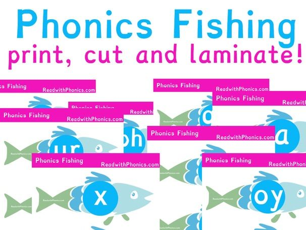 Phonics Fishing with simple letter sounds, digraphs and trigraphs | Year 1 | Year 2