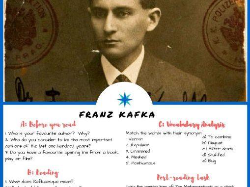 Franz Kafka - English ESL Reading, Comprehension Check, Vocabulary Review