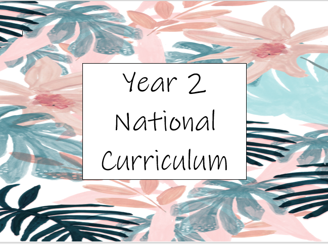 Year 2 National Curriculum Overview