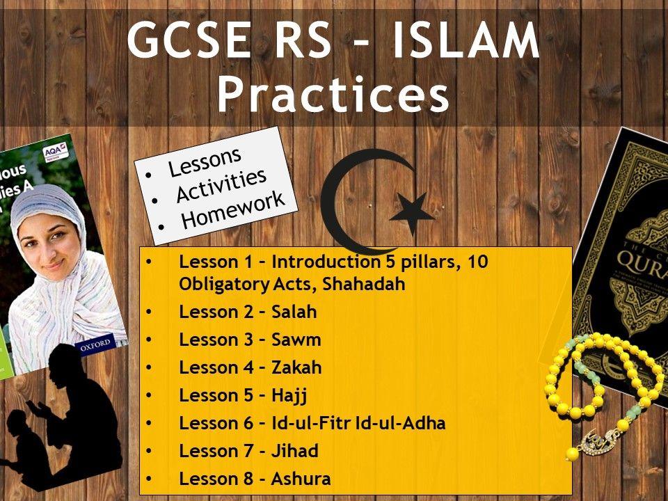 AQA GCSE RE RS - Islam Practices 8 Lessons (Whole unit_