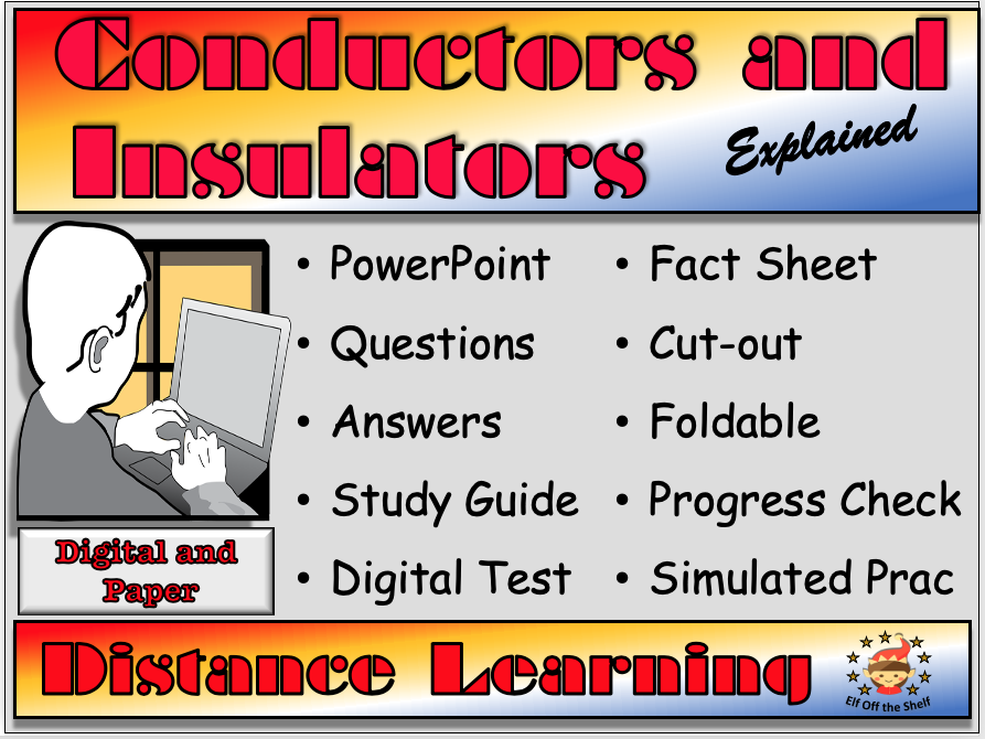 Conductor and Insulators Explained Distance Learning or Home Learning Pack KS3