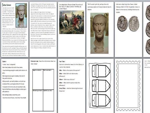 Julius Caesar Activity Pack