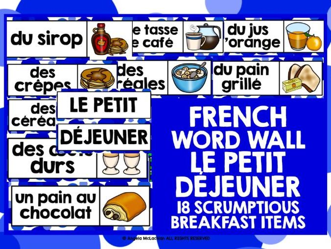 FRENCH BREAKFAST WORD WALL