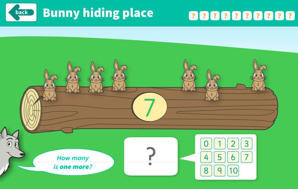 Comparing and Ordering Numbers to 10 - Bunny Hiding Place Interactive Game - EYFS Number