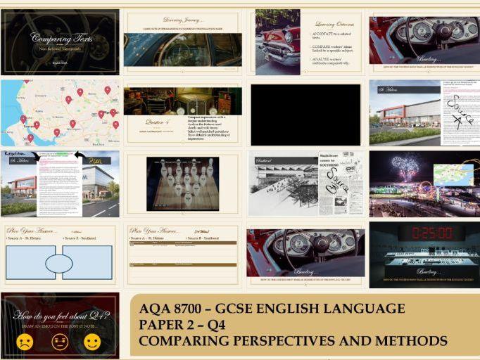 AQA 8700/2 GCSE English Language Paper 2 Question 4 Comparisons - Bowling Venues