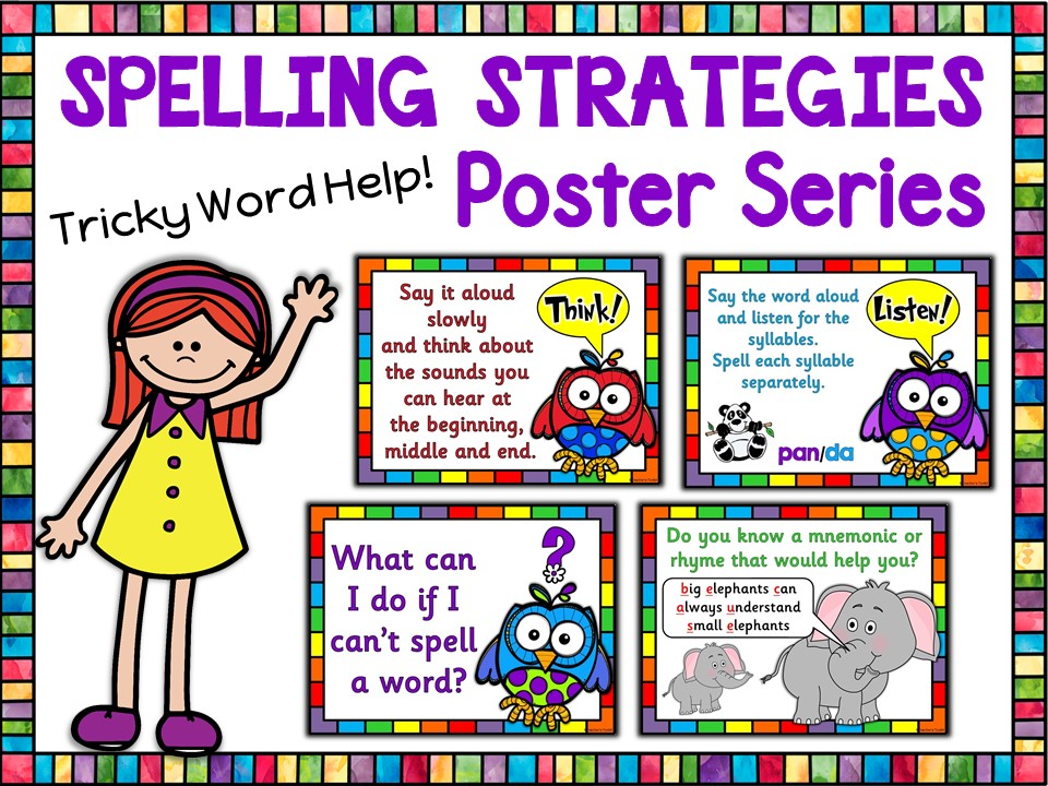 Display: Spelling Strategy Reference Posters