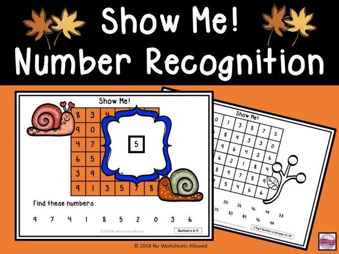 Autumn Number Recognition Activity