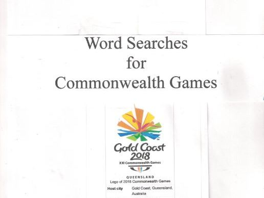 Commonwealth Games  3 Word Searches