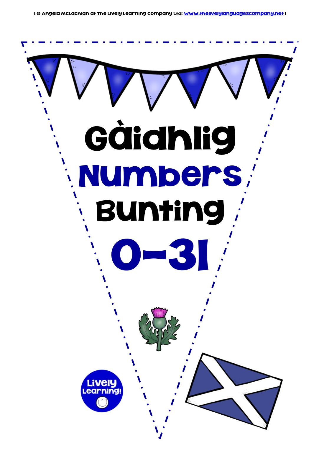 SCOTTISH GAELIC NUMBERS 0-31 - BUNTING / BANNERS