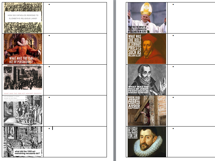 OCR SHP-B GCSE History, The Elizabethans Revision Work Booklet