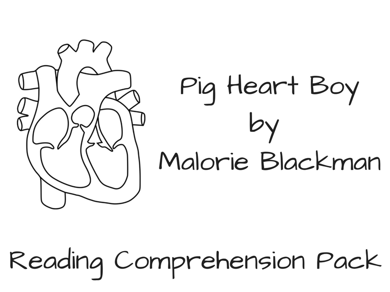 Pig Heart Boy - Reading Comprehension
