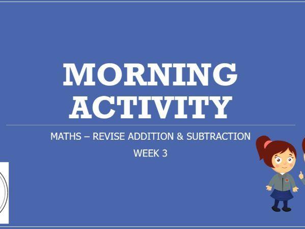 KS2 Maths Morning Task or Starter Revision AUT 2