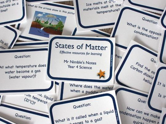 Year 4 Quiz Cards - States of Matter