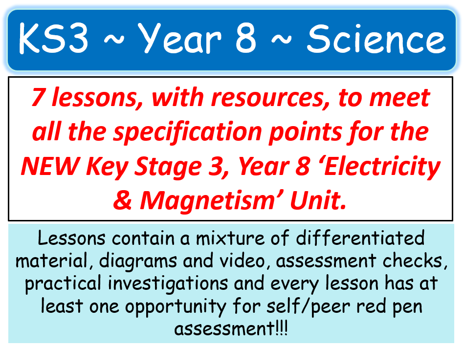 NEW KS3 ~ Year 8 ~ Electricity & Magnetism